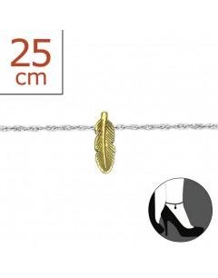Mon-bijou - H6222z - Chaîne cheville en argent 925/1000