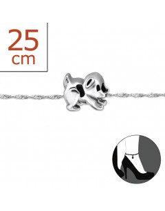 Mon-bijou - H5804z - Chaîne cheville en argent 925/1000