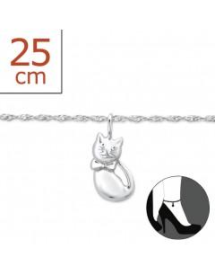 Mon-bijou - H6326z - Chaîne cheville en argent 925/1000