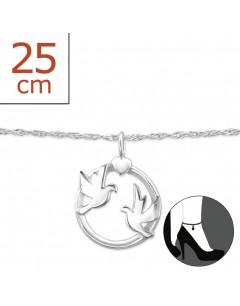Mon-bijou - H7894z - Chaîne cheville en argent 925/1000