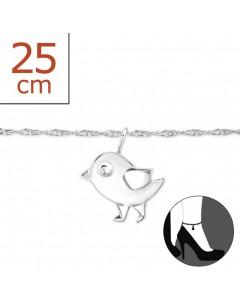 Mon-bijou - H8274z - Chaîne cheville en argent 925/1000