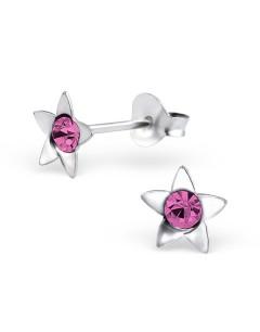 Mon-bijou - H3902 - Boucle d'oreille étoile en argent 925/1000