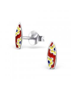 Mon-bijou - H22246 - Boucle d'oreille planche de surf en argent 925/1000
