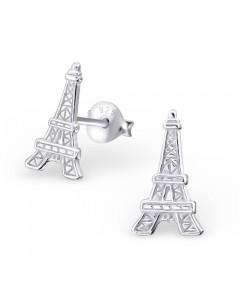 Boucle d'oreille tour Eiffel en argent