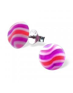 Mon-bijou - H16274 - Boucle d'oreille motifs rose en argent 925/1000