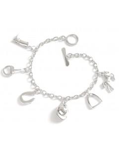 Mon-bijou - D1201c - Bracelet passion équitation en acier inoxydable