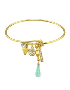 Mon-bijou - H34165 - Bracelet dorée en acier inoxydable