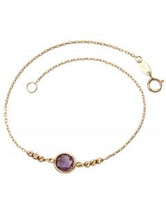 Mon-bijou - D434a - Bracelet améthyste en Or 375/1000