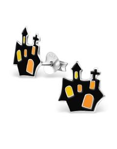 Mon-bijou - H13635 - Boucle d'oreille spécial halloween en argent 925/1000