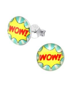 Mon-bijou - H33060 - Boucle d'oreille WOW en argent 925/1000