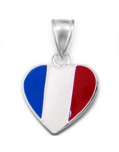 Mon-bijou - H13775 - Collier allez la France en argent 925/1000