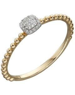 Mon-bijou - D539r - Bague diamants en Or 375/1000