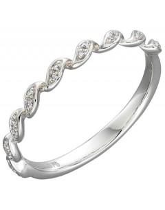 Mon-bijou - D540 - Bague diamants en Or blanc 375/1000