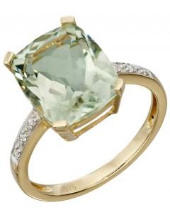 Mon-bijou - D543 - Bague diamant et améthyste vert en Or 375/1000