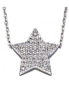 Mon-bijou - D4261c - Collier étoile en argent 925/1000