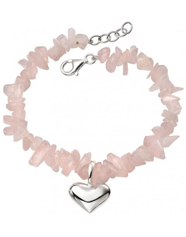 bracelet argent et quartz