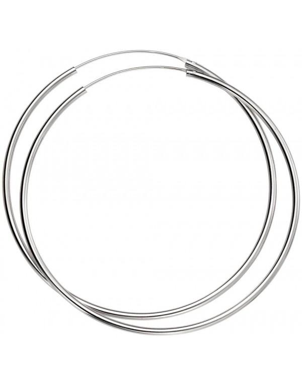 boucle d'oreille cercle argent