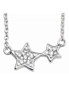 Mon-bijou - D4103 - Collier tendance étoiles en argent 925/1000
