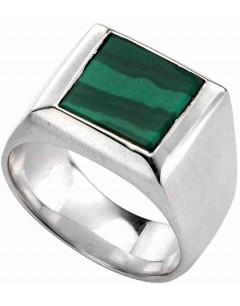 Mon-bijou - D3533v - Bague pierre de malachite vert en argent 925/1000