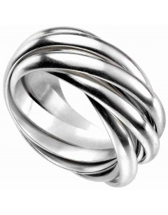 Mon-bijou - D3549 - Bague cinq anneaux en argent 925/1000