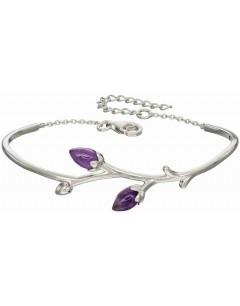 Mon-bijou - D5011 - Bracelet améthyste rose en argent 925/1000