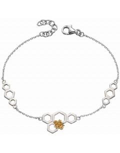 Mon-bijou - D5145 - Bracelet chic abeille plaqué Or en argent 925/1000