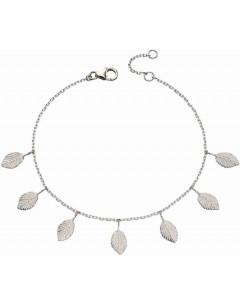 Mon-bijou - D5147 - Bracelet tendance feuilles en argent 925/1000