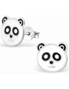 Mon-bijou - H17256 - Boucle d'oreille panda en argent 925/1000