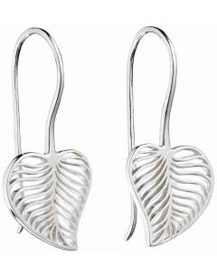 Mon-bijou - D5666 - Boucle d'oreille feuille en argent 925/1000