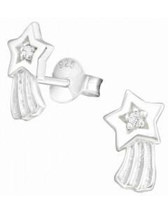 Mon-bijou - H21846 - Boucle d'oreille étoile filante en argent 925/1000