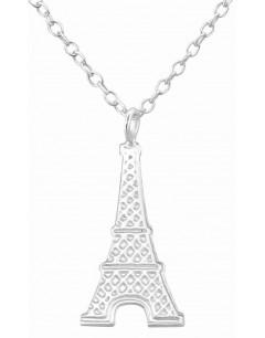 Mon-bijou - H34185 - Collier tour Eiffel en argent 925/1000