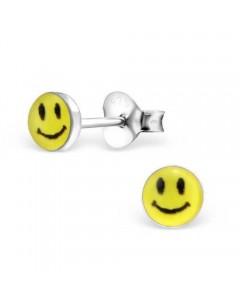 Boucle d'oreille smiley en argent 925/1000
