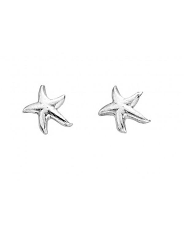Argent Sterling 925 étoile de mer boucles d/'oreilles 22 mm.