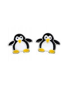 Boucle d'oreille pingouin en argent 925/1000