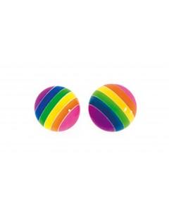 Mon-bijou - D704 - Boucle d'oreille arc-en-ciel en argent 925/1000