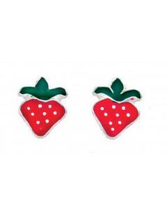 Boucle d'oreille fraises en argent 925/1000