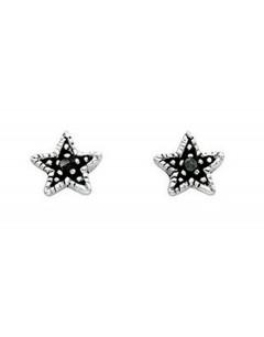 Boucle d'oreille étoiles en argent 925/1000