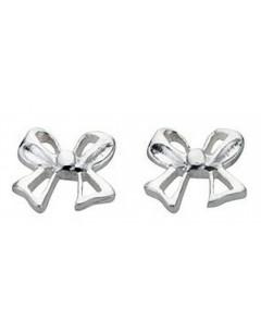 Boucle d'oreille noeud cadeaux en argent 925/1000