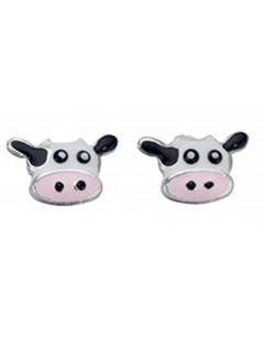 Boucle d'oreille Vache en argent 925/1000