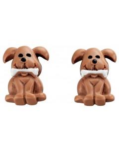 Boucle d'oreille chien en argent 925/1000