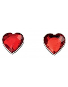 Boucle d'oreille cœur en argent 925/1000