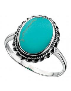 Mon-bijou - D3150t - Bague turquoise en argent 925/1000