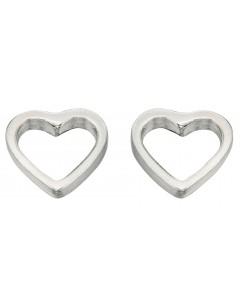 Mon-bijou - D355 - Boucle d'oreille coeur en argent 925/1000