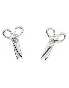 Mon-bijou - D710 - Boucle d'oreille paire de ciseaux en argent 925/1000