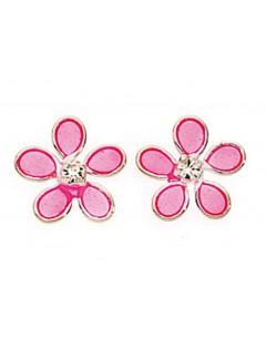Mon-bijou - D768p - Boucle d'oreille fleur en argent 925/1000