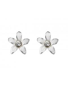 Mon-bijou - D909 - Boucle d'oreille fleur en argent 925/1000