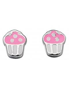 Mon-bijou - D4348 - Boucle d'oreille cake en argent 925/1000