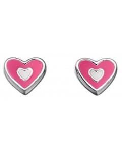 Mon-bijou - D4349 - Boucle d'oreille coeur en argent 925/1000