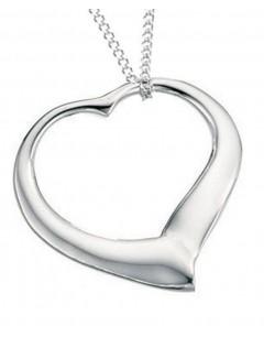 Mon-bijou - D354 - collier coeur en argent 925/1000