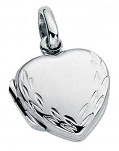 Mon-bijou - D2702 - Collier pendentif coeur photo en argent 925/1000